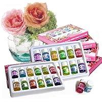 TOSSPER 12 Botellas/Set Fragancia 3ML Natural del Aroma de aceites Esenciales para aromaterapia Conjunto humidificador Soluble en Agua Inicio Sala de ambientador
