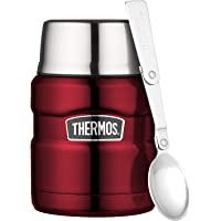 Thermos 4001248047 Stainless King Voedsel Pot, Roestvrij Staal, Cranberry, 0.47 Liter
