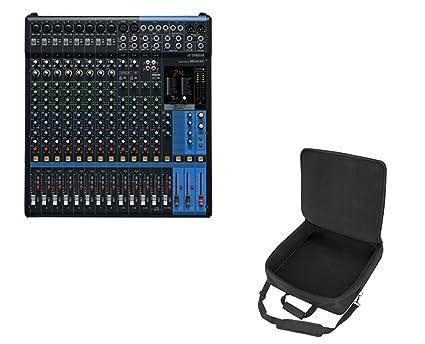 143ebeac48 Amazon.com  Yamaha MG16XU 16-Channel Analog USB Mixer with Effects + ...