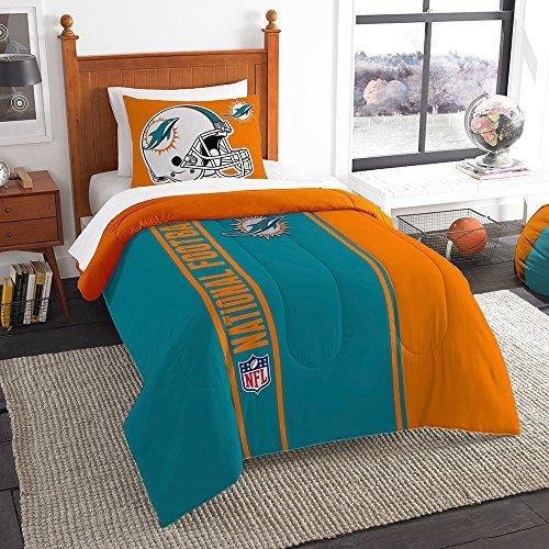 Northwest Sham NOR-1NFL835000010BBB 64 x 86 Miami Dolphins NFL Twin Comforter Set, Soft & Cozy