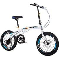 Bicicleta Plegable, Bicicleta De Velocidad Variable, Bicicleta Portátil Para Adultos De 20 Pulgadas Para Hombres Y Mujeres
