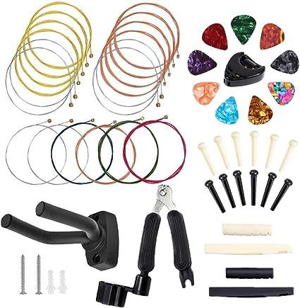 Bosunny Kit de accesorios de guitarra que incluye cuerdas de ...