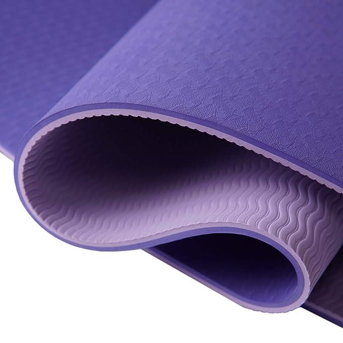 Yoga MAT Multiusos. Esterilla antideslizante para Yoga y Pilates. Colchoneta para gimnasia, ejercicios de fitness y deportes. Alfombra ecológica y muy ...