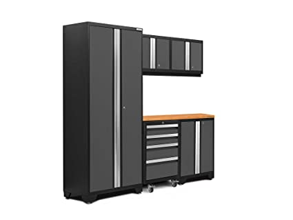 NewAge Products 50401 Bold 3.0 Garage Storage Cabinet Set With Worktop  (6 Piece)