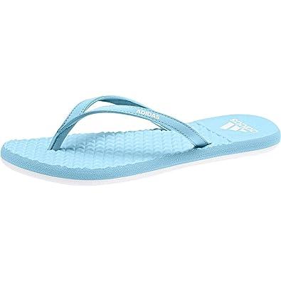 official photos 63ef9 fb09d adidas Damen Eezay Soft W Zehentrenner, Multicolore (Icey Blue F17Ftwr  White