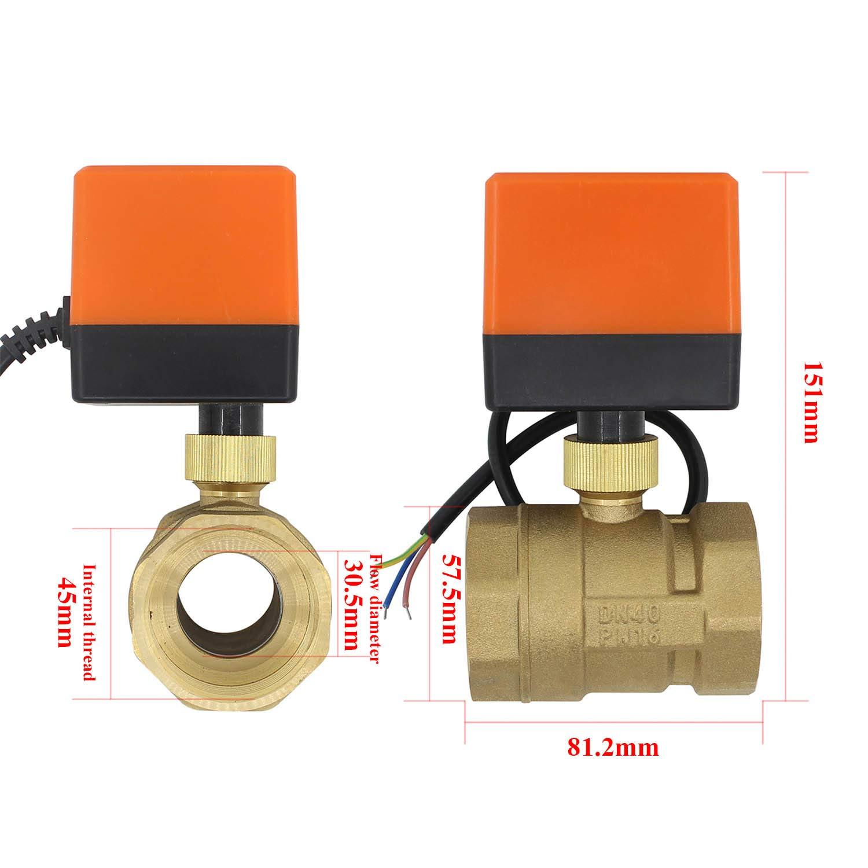 1-1//4 pulgada DN32 Valvula motorizada 220v electrovalvula normalmente abierta valvula 2 vias calefaccion 1//2 3//4 1 1-1//4 1-1//2 2 pulgada