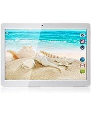 Tablet Android de 10'' Procesador de Cuatro núcleos 4GB de RAM y 64 GB de Memoria Tablet PC WiFi Cámara GPS y Doble Ranuras de Tarjeta