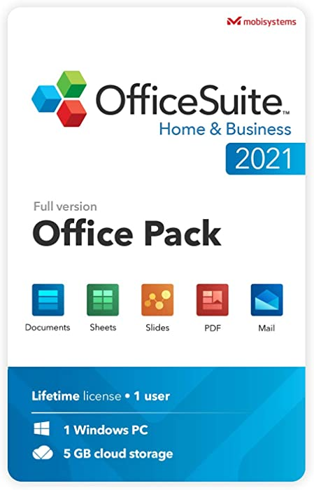 OfficeSuite Home & Business 2021 | Lifetime License | Compatible with Word®, Excel®, PowerPoint® & PDF for Windows