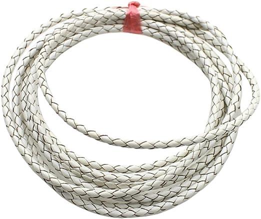 Vino Tinto metros 3 mm Trenzado trencillas Cuerda Trenzada//Cable Joyería Craft Supplies