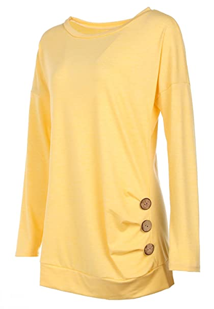 55b0b064e Twippo Blusas para Mujer Camisas Manga Larga  Amazon.es  Ropa y accesorios