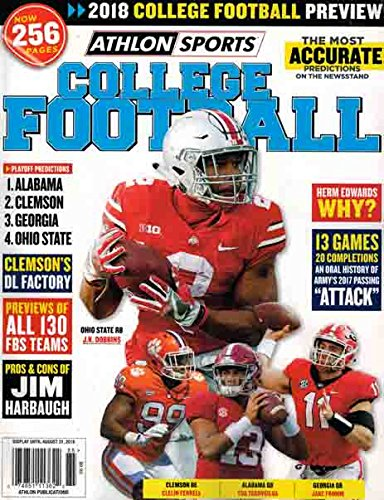Athlon Sports College Football 2018 for sale  Delivered anywhere in USA