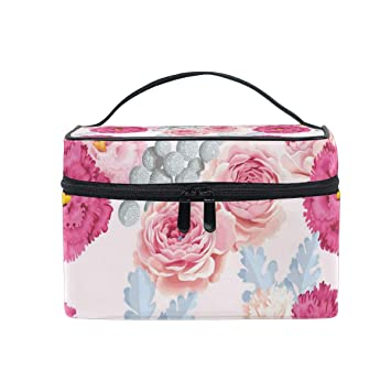 0750d4c9ded9 Amazon.com : Various Brightly Colored Carnations Travel Toiletry Bag ...