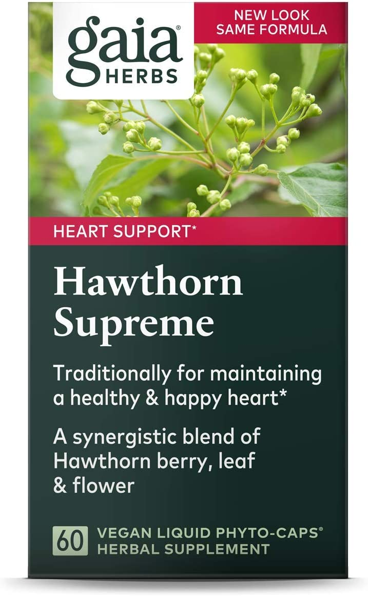 Gaia Herbs Hawthorn Supreme, Vegan Liquid Capsules, 60 Count - Promotes Heart Health & Stimulates Healthy Circulation, Organic Hawthorn Berry, Leaf & Flower Extract: Health & Personal Care