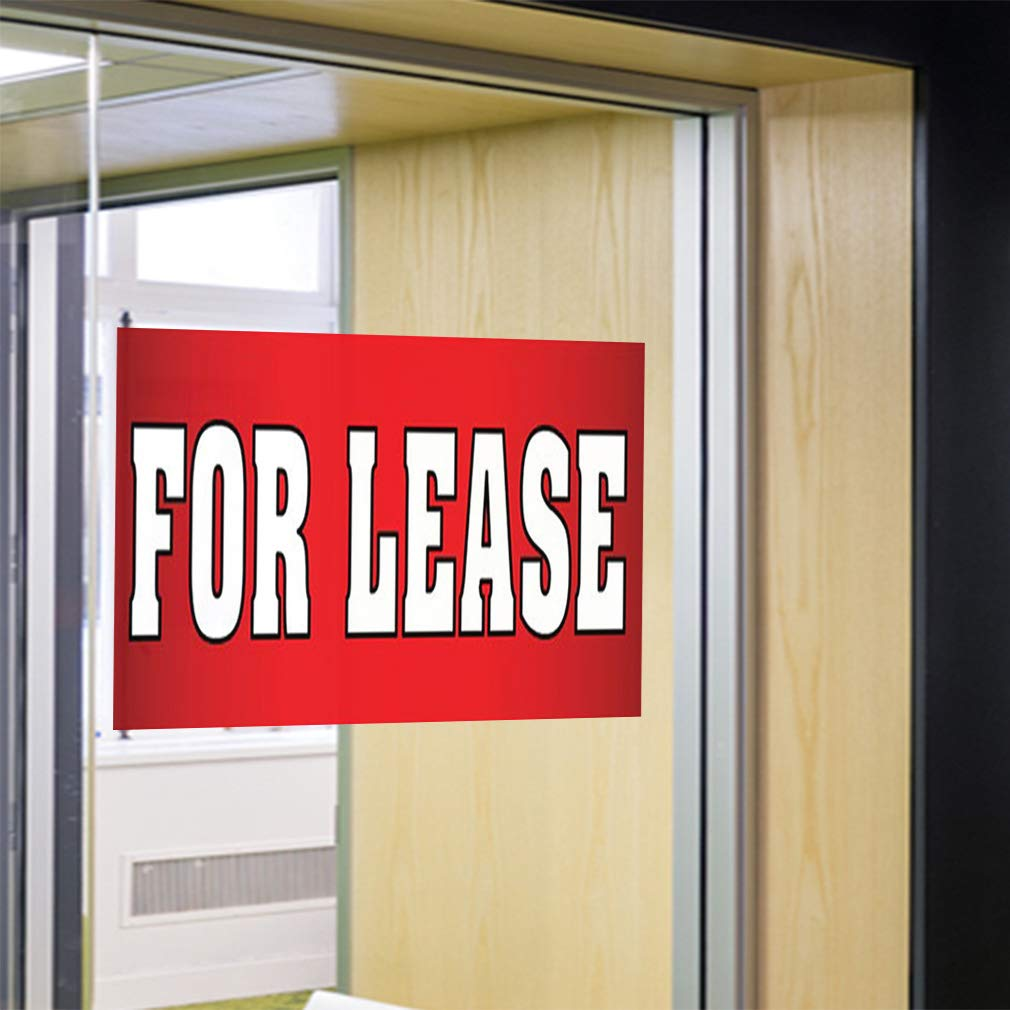 Set of 2 Decal Sticker Multiple Sizes for Lease red Business for Lease Outdoor Store Sign Red 72inx48in
