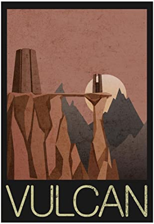 Amazon.com : Vulcan Retro Travel Poster 13 x 19in with Poster Hanger : Prints : Sports & Outdoors