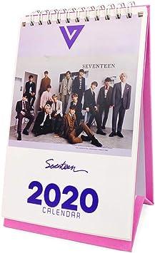Fanstown Kpop 2020 B6 Size 6.9 x 5.3 inch Flip Spiral Bound Desk Calendar Jan Dec X1