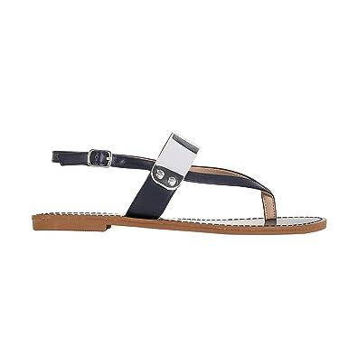 Basic Talon Taille Sandal Parfois Plat Flat Sandales À Femmes UVpSqzMG