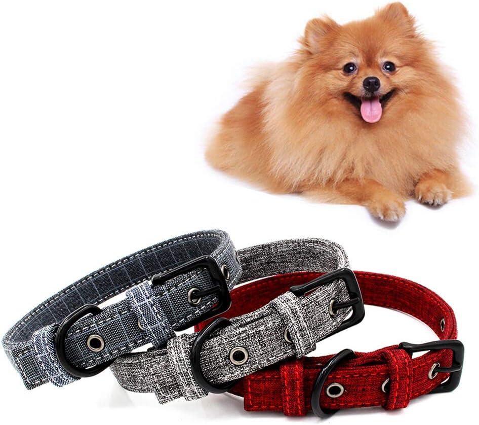 LPxdywlk Flores Ajustables con Estampado De Puntos De Rayas Mascotas Collar de Perro Cachorro Hebilla Correa para El Cuello Suministros para Mascotas 3# L