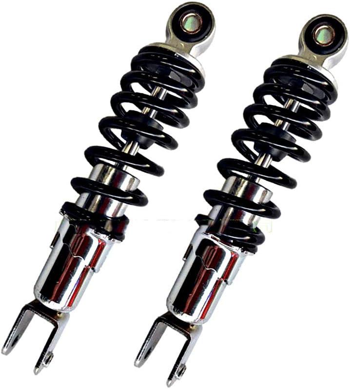 Universal Amortiguador trasero Moto Suspensi/ón de acero inoxidable Resorte Amortiguador Amortiguadores Piezas Azul Amortiguador Amortiguadores