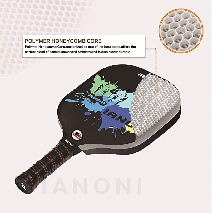 Amazon.com: IANONI Pala de Pickleball de grafito con cara ...