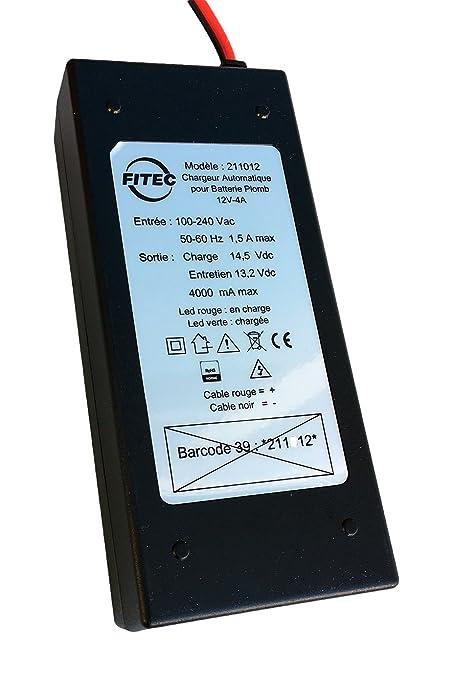 Cargador Batería plomo 12 V 4 A automático Fitec Energy ...