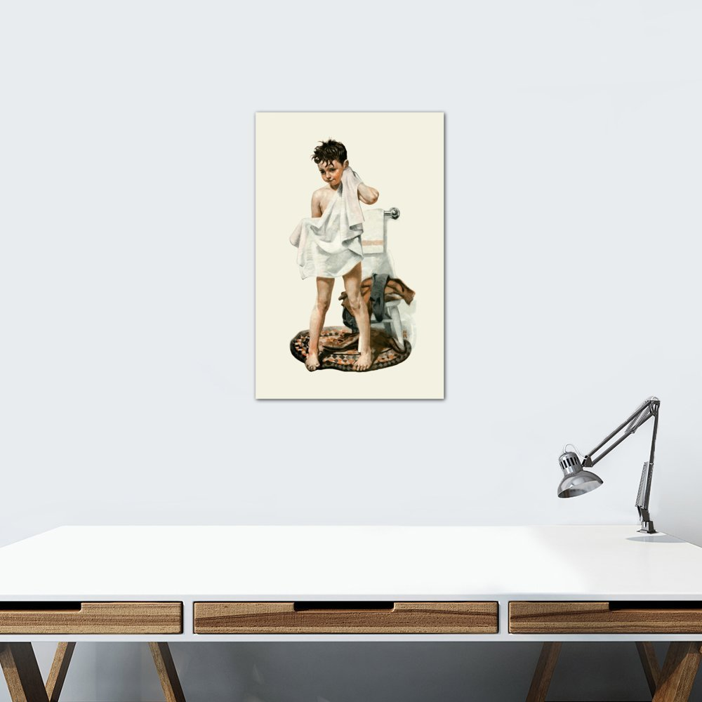 12 by 8//0.75 Deep 12 by 8//0.75 Deep NRL311-1PC3-12x8 iCanvasART 1-Piece C-L-E-A-N Canvas Print by Norman Rockwell