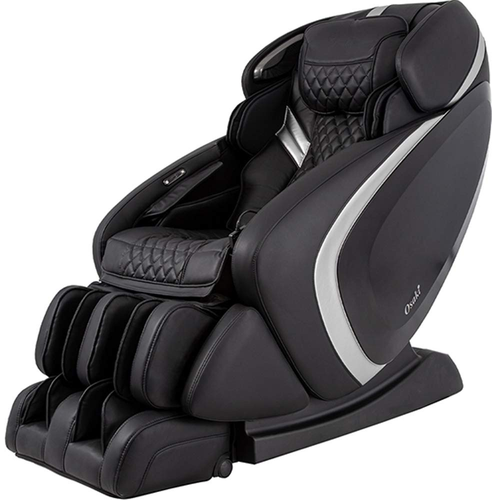 Osaki Os-Pro Admiral AS Massage Chair With LED Light Control In Black/Silver,