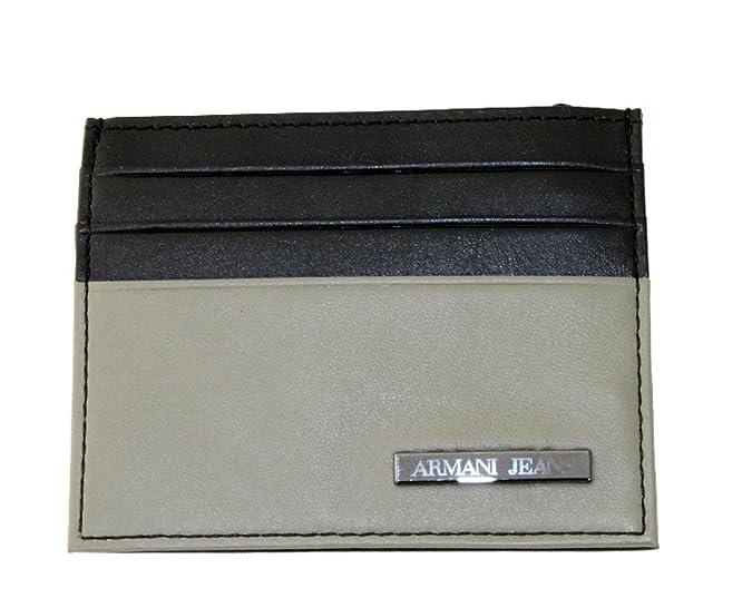 Armani Jeans - Cartera para hombre de Piel Lisa Hombre negro ...