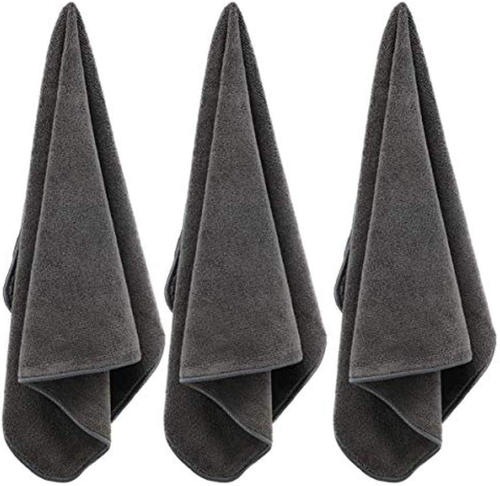Gris ,Serviettes de Bain Douces et Absorbantes,Serviettes de Bain,De Bain R/ésistants /à La Essuie Main,Microfibre Siskey Towels,Set De 8,Essuie Main 35 x 75 cm