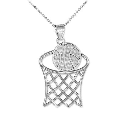 Sports Charms Collar con Colgante de aro de Baloncesto de Oro ...