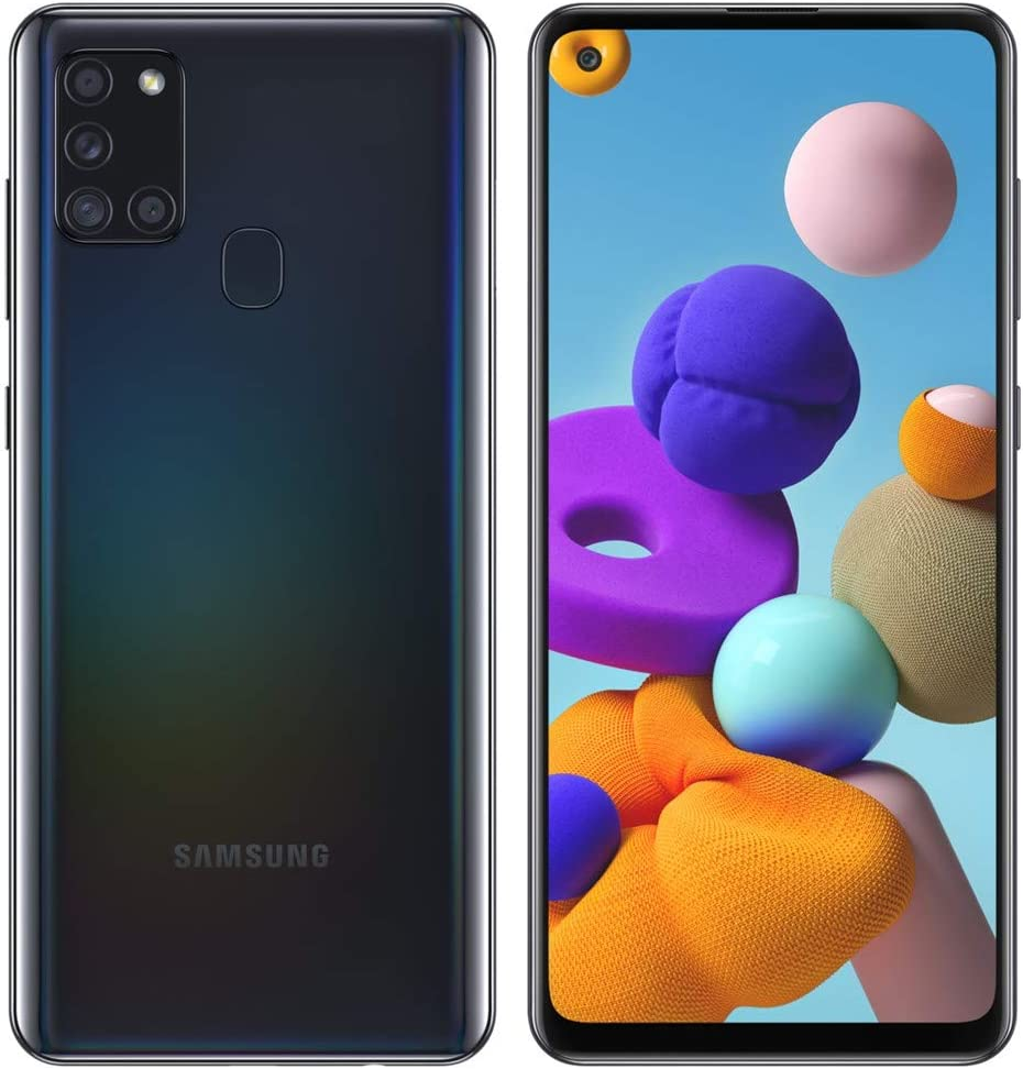 Samsung Galaxy A21S SM-A217M/DS 4G LTE 64GB + 4GB Ram LTE USA w/Four Cameras (48+8+2+2mp) Android International Version (GSM Only, Not CDMA) (Black)