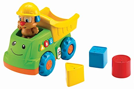 2f2c2b2697d2 Amazon.com  Fisher-Price Laugh   Learn Puppy s Dump Truck  Toys   Games