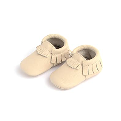 8e958e564b2db Freshly Picked - Rubber Mini Sole Leather Moccasins - Toddler Girl Boy  Shoes - Size 3