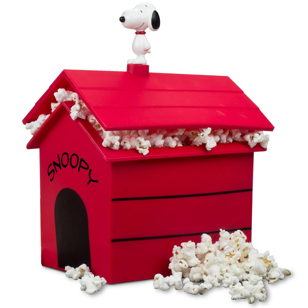 Smart Planet SDH-1P Snoopy's Dog House Silicone Microwave Popcorn Maker, Red