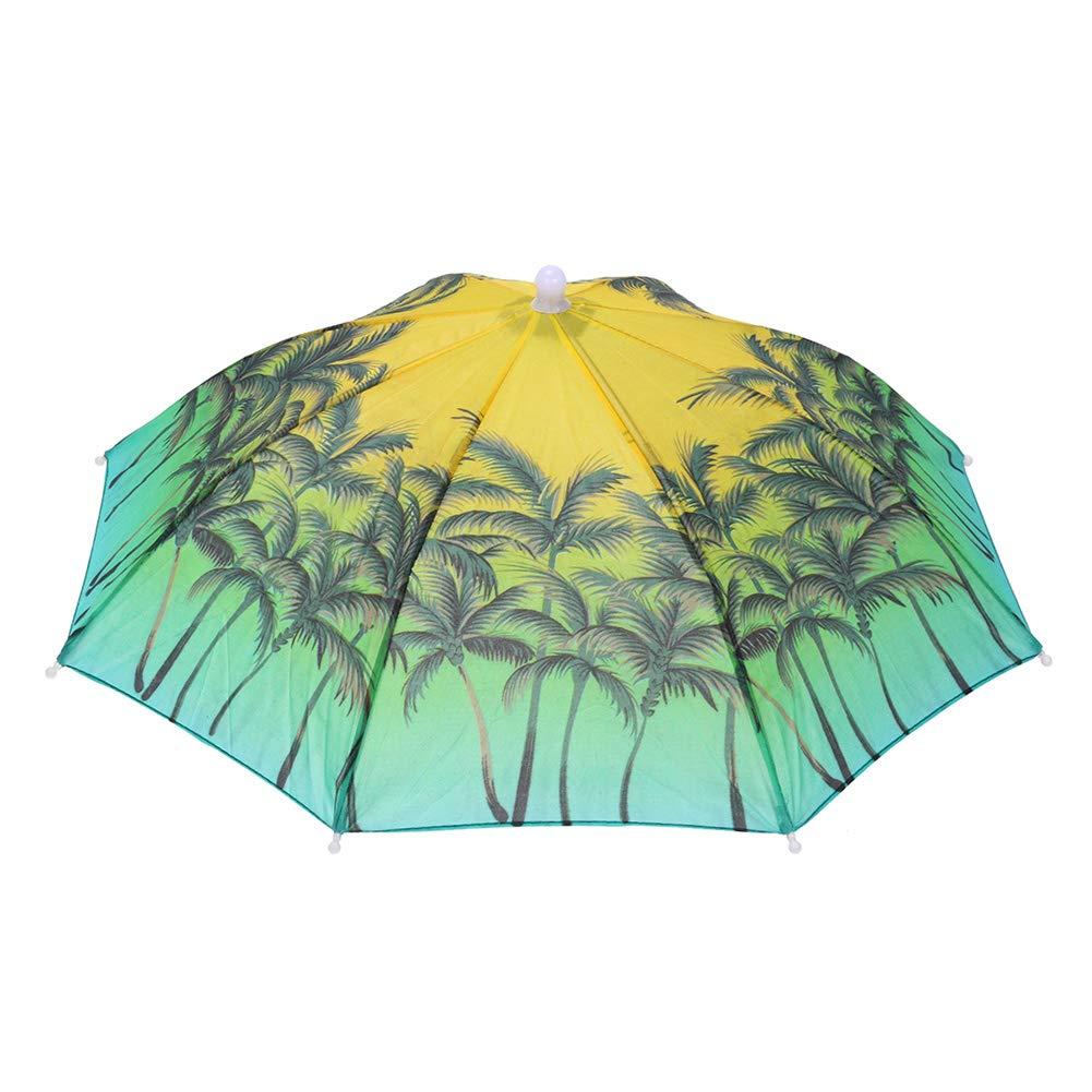 Dreamitpossible Tragbarer Kopf Regenschirm Anti Regen Outdoor