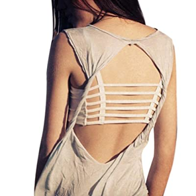 Fenta Women Top Caged Back Cut Out Padded Bra Girls Activewear by