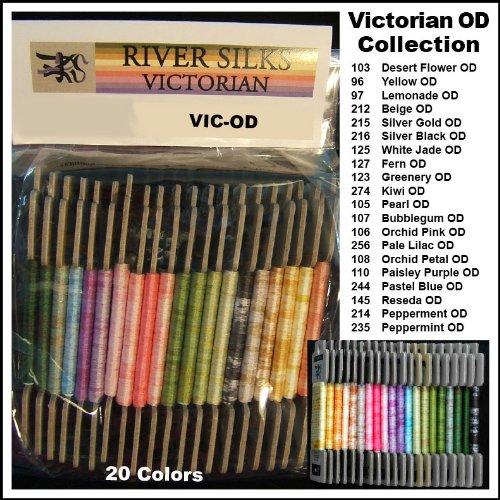 River Silks Victorian Overdye Collection - 4mm Ribbon