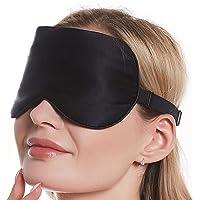 PIGGY PIGGY'S 100% Natural Silk Eye Mask for Men Women, Block Out Light Sleep Mask & Blindfold, Soft & Smooth Sleep Mask…