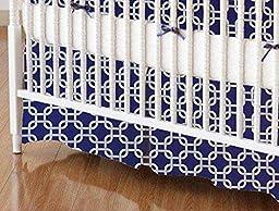 SheetWorld - Crib Skirt (28 x 52) - Purple Links - Made In USA