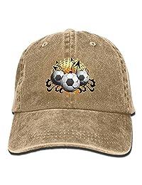 MDFY OEWGRF Graffiti Football Soccer Unisex Adjustable Baseball Caps Denim Hats