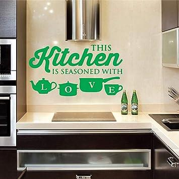 Cocina olla taza amor pegatinas de pared arte comedor ...
