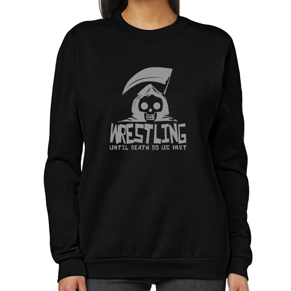 Teeburon Wrestling UNTIL DEATH SEPARATE US Women Sweatshirt by Teeburon