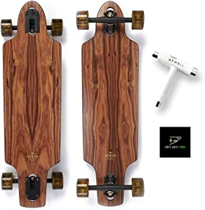 Arbor Collective Flagship Series Skateboard Bundled with Swell Skate-Tool + Crate White Shark Sticker