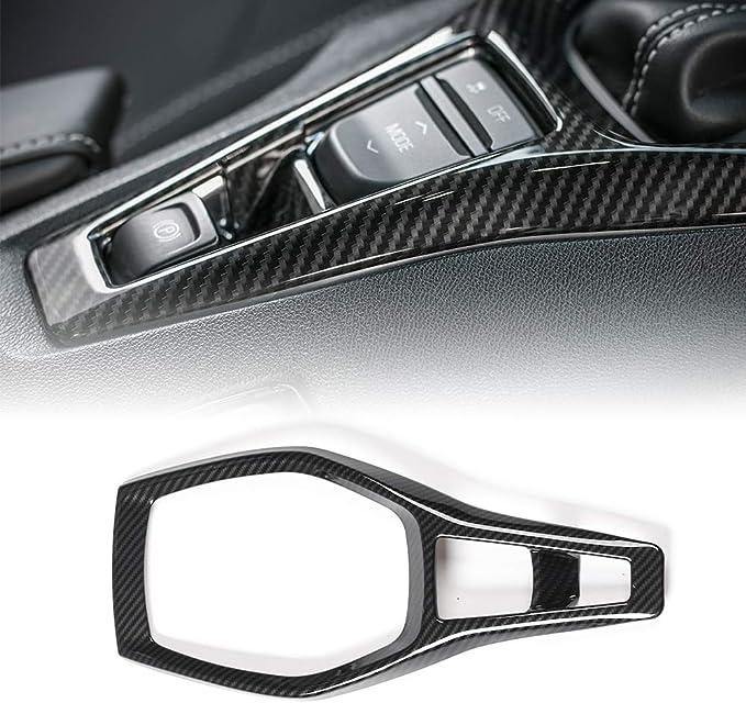 AIRSPEED Hard Carbon Fiber Car Gear Shift Panel Sticker Interior Trim Decal for Chevrolet Camaro 2016 2017 2018 2019 Accessories