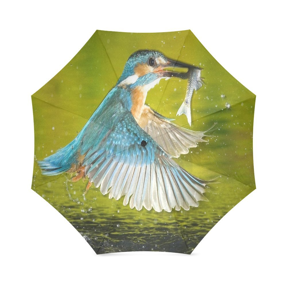 Custom Cute little birds Compact Travel Windproof Rainproof Foldable Umbrella