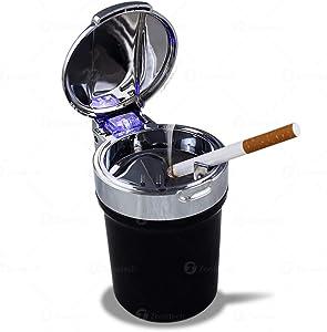 Zone Tech Car Smokeless Ash Tray Blue LED Cool Light Indicator Travel Auto Cigarette Odor Remover Smoke Diffuser