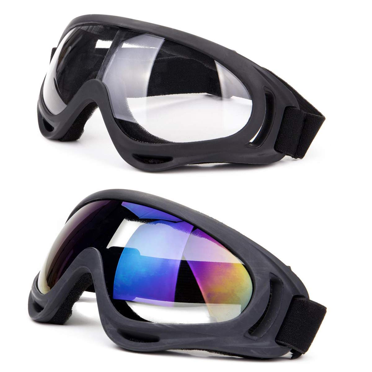 DODOING Ski Goggles, 2-Pack Snowboard Goggles with UV 400 Protection Windproof and Dustproof for Skate Motorcycle Bicycle Glasses for Kids, Boys & Girls, Youth, Men & Women by DODOING