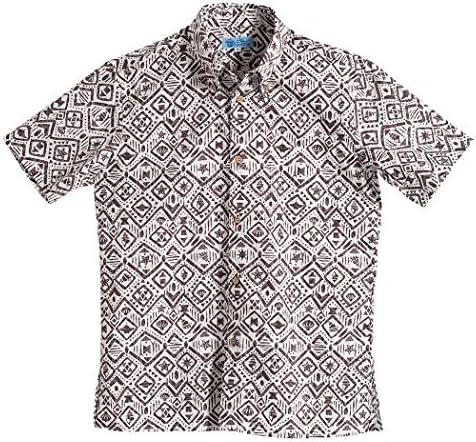 [MAJUN (マジュン)] 国産シャツ かりゆしウェア アロハシャツ 結婚式 メンズ 半袖シャツ ボタンダウン 海はづき