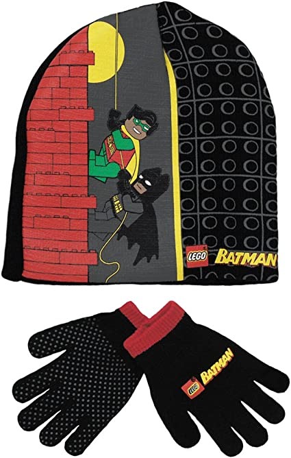 Amazon.com: Lego Batman and Robin Winter Hat n Gloves set ...