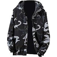 Clearance!!Mens Sport Hoodies-Autumn Winter Zip Camouflage Long Sleeve Pocket Jacket Coat